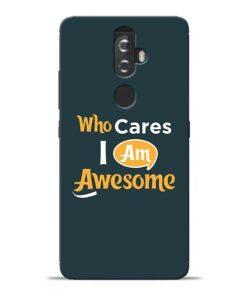 Who Cares Lenovo K8 Plus Mobile Cover