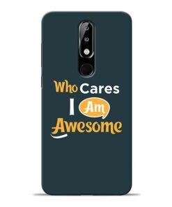 Who Cares Nokia 5.1 Plus Mobile Cover