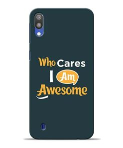Who Cares Samsung M10 Mobile Cover