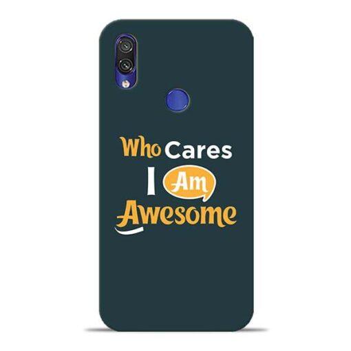 Who Cares Xiaomi Redmi Note 7 Mobile Cover