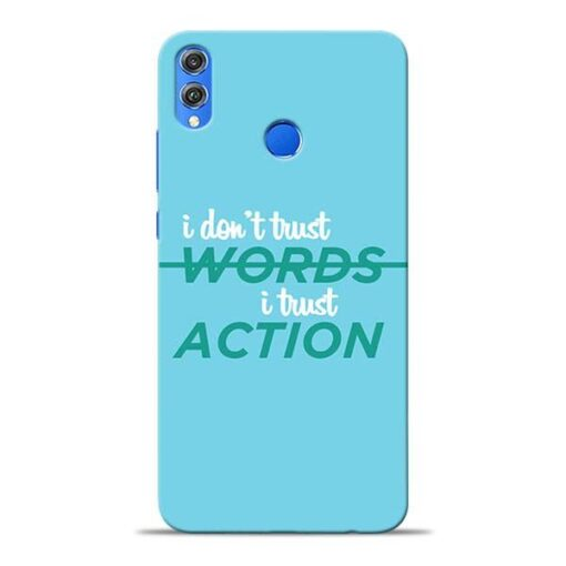 Words Action Honor 8X Mobile Cover