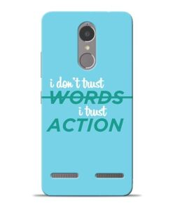Words Action Lenovo K6 Power Mobile Cover