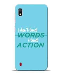 Words Action Samsung A10 Mobile Cover