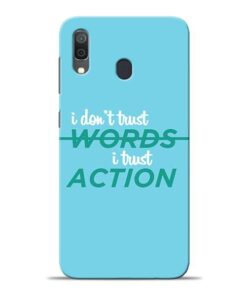 Words Action Samsung A30 Mobile Cover