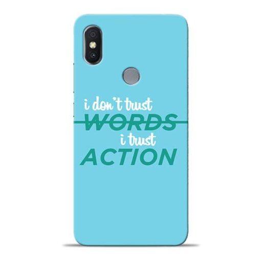 Words Action Xiaomi Redmi Y2 Mobile Cover