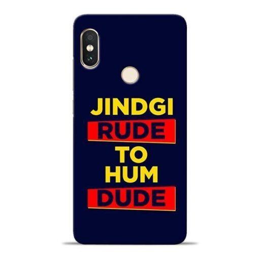 Zindagi Rude Xiaomi Redmi Note 5 Pro Mobile Cover
