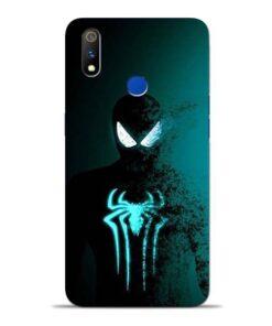 Black Spiderman Oppo Realme 3 Pro Mobile Cover