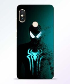 Black Spiderman Redmi Note 5 Pro Mobile Cover