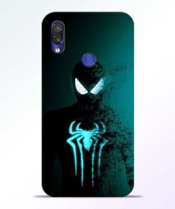 Black Spiderman Redmi Note 7 Pro Mobile Cover