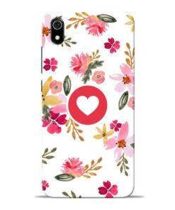 Floral Heart Redmi 7A Mobile Cover