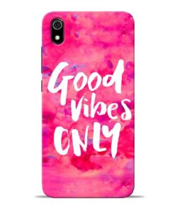 Good Vibes Redmi 7A Mobile Cover