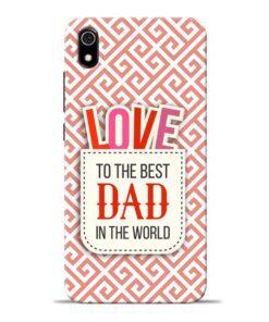 Love Dad Redmi 7A Mobile Cover