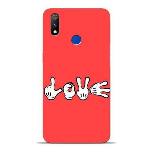 Love Symbol Oppo Realme 3 Pro Mobile Cover