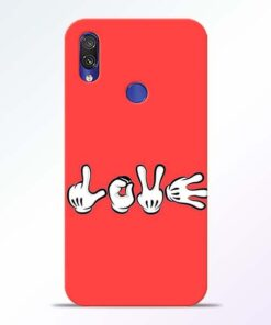 Love Symbol Redmi Note 7 Pro Mobile Cover