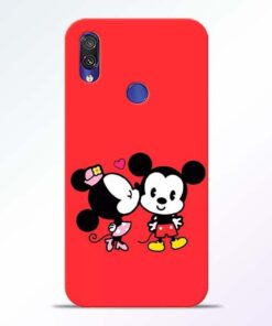 Red Cute Mouse Redmi Note 7 Pro Mobile Cover
