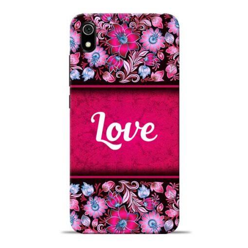 Red Love Redmi 7A Mobile Cover