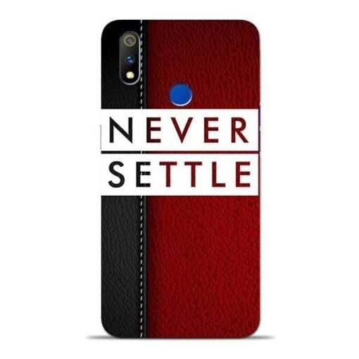 Red Never Settle Oppo Realme 3 Pro Mobile Cover
