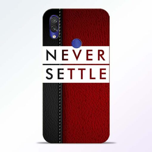 Red Never Settle Redmi Note 7 Pro Mobile Cover