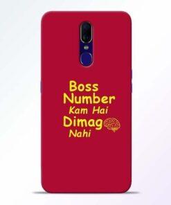 Boss Number Oppo F11 Mobile Cover
