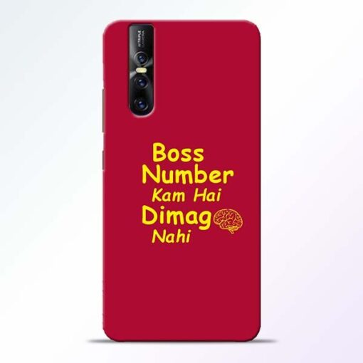 Boss Number Vivo V15 Pro Mobile Cover