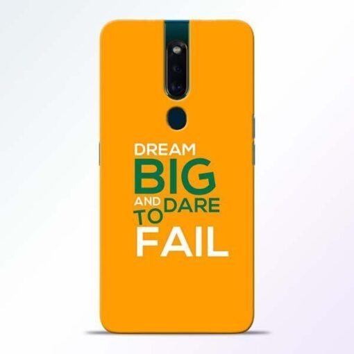 Dare to Fail Oppo F11 Pro Mobile Cover