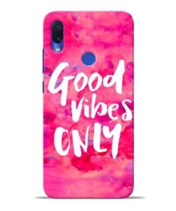 Good Vibes Redmi Note 7S Mobile Cover