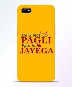Hans Mat Pagli Oppo A1K Mobile Cover