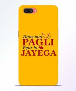 Hans Mat Pagli Oppo A3S Mobile Cover