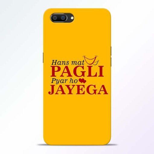 Hans Mat Pagli Realme C1 Mobile Cover