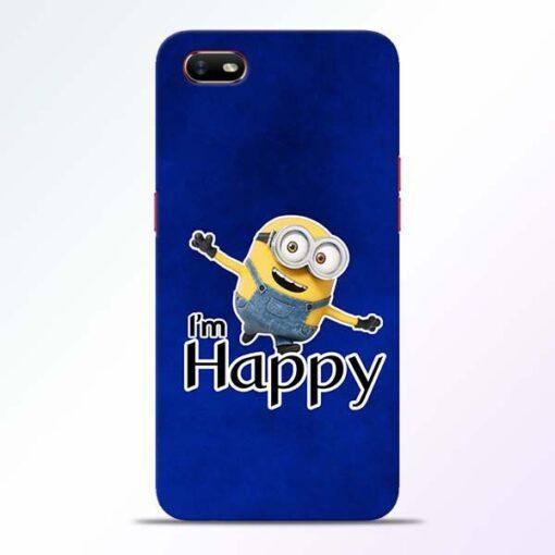 I am Happy Minion Oppo A1K Mobile Cover