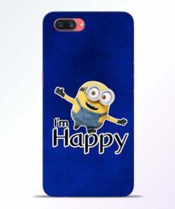 I am Happy Minion Oppo A3S Mobile Cover