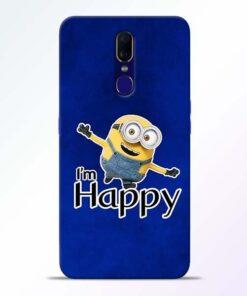 I am Happy Minion Oppo F11 Mobile Cover