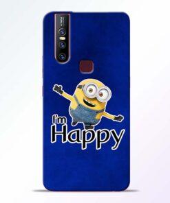 I am Happy Minion Vivo V15 Mobile Cover