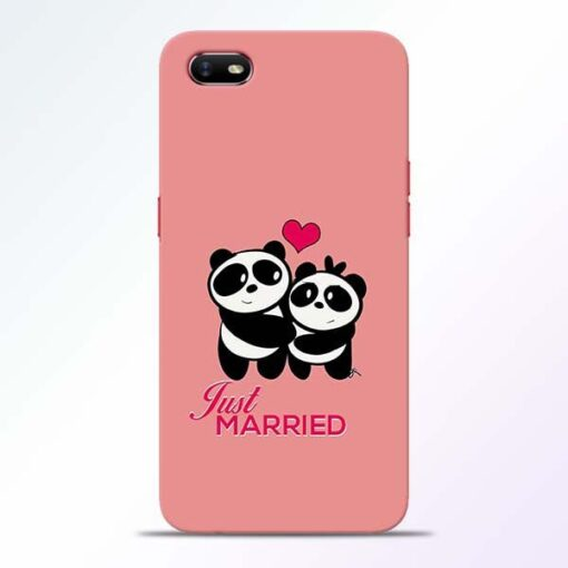 Just Married Oppo A1K Mobile Cover