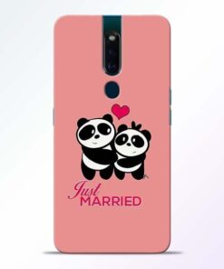 Just Married Oppo F11 Pro Mobile Cover