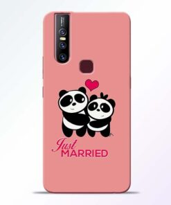 Just Married Vivo V15 Mobile Cover