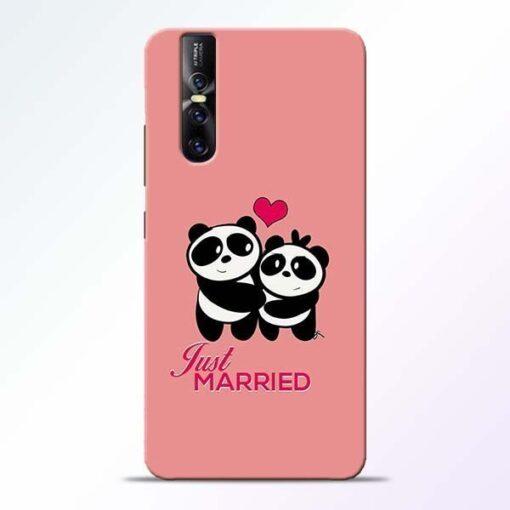 Just Married Vivo V15 Pro Mobile Cover