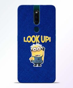 Look Up Minion Oppo F11 Pro Mobile Cover