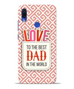 Love Dad Redmi Note 7S Mobile Cover