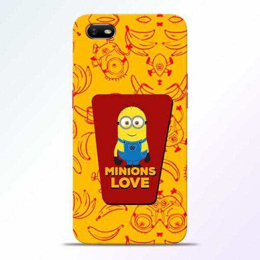 Minions Love Oppo A1K Mobile Cover