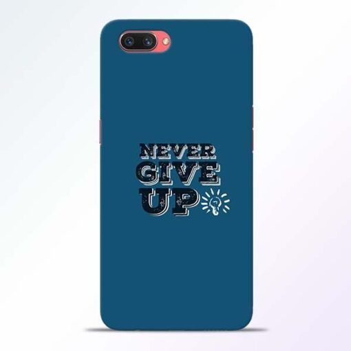 Never Give Up Oppo A3S Mobile Cover