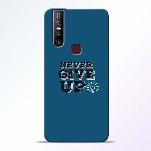 Never Give Up Vivo V15 Mobile Cover