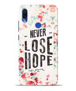Never Lose Redmi Note 7S Mobile Cover