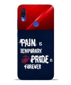 Pain Is Redmi Note 7S Mobile Cover