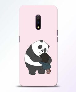 Panda Close Hug Realme X Mobile Cover