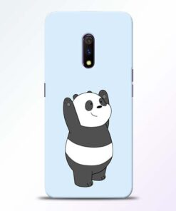 Panda Hands Up Realme X Mobile Cover