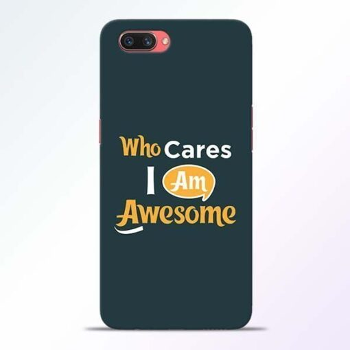 Who Cares Oppo A3S Mobile Cover