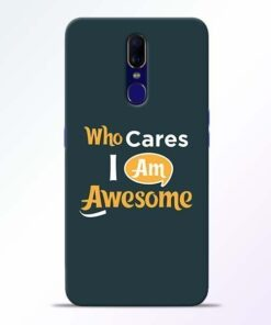 Who Cares Oppo F11 Mobile Cover