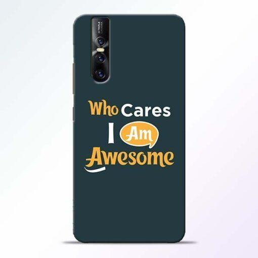 Who Cares Vivo V15 Pro Mobile Cover