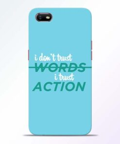 Words Action Oppo A1K Mobile Cover